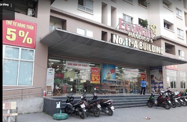 Tòa nhà Nơ 11A và tiện ích siêu thị