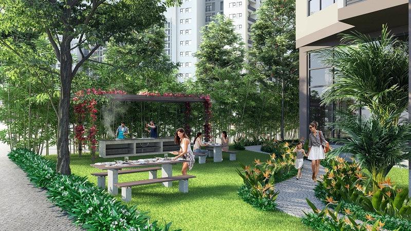 Không gian xanh Dự án Le Grand Jardin Sài Đồng
