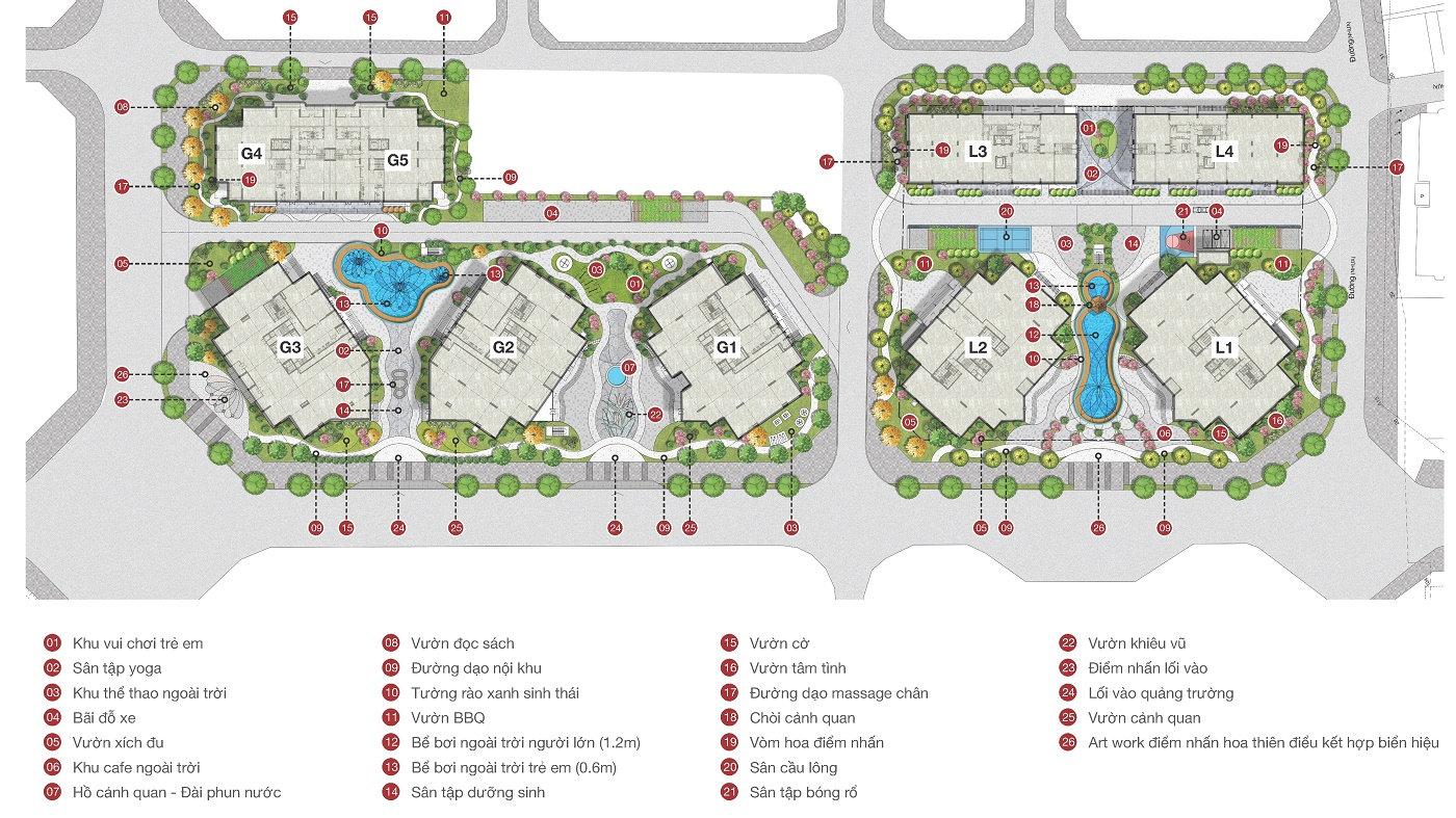 tiện ích nội khu Dự án Le Grand Jardin