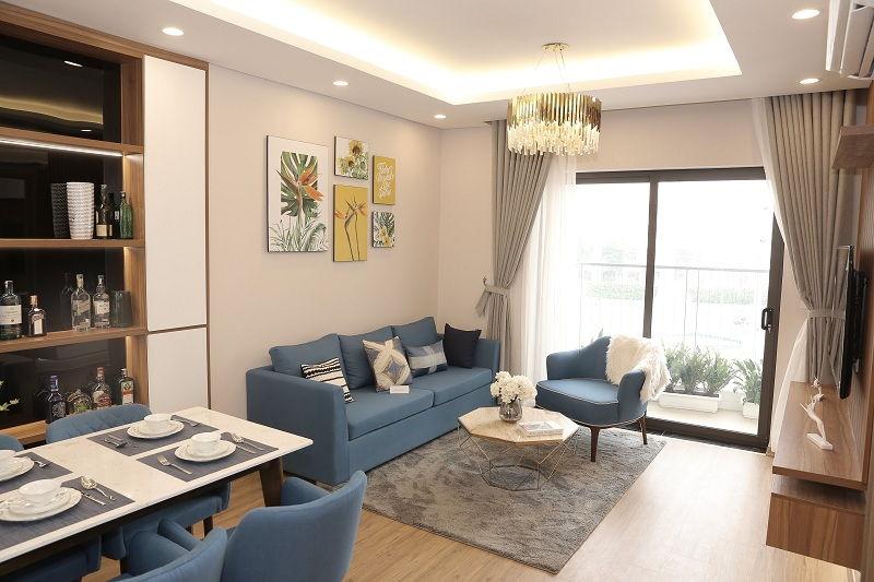 Phòng khách mẫu chung cư Le Grand Jardin