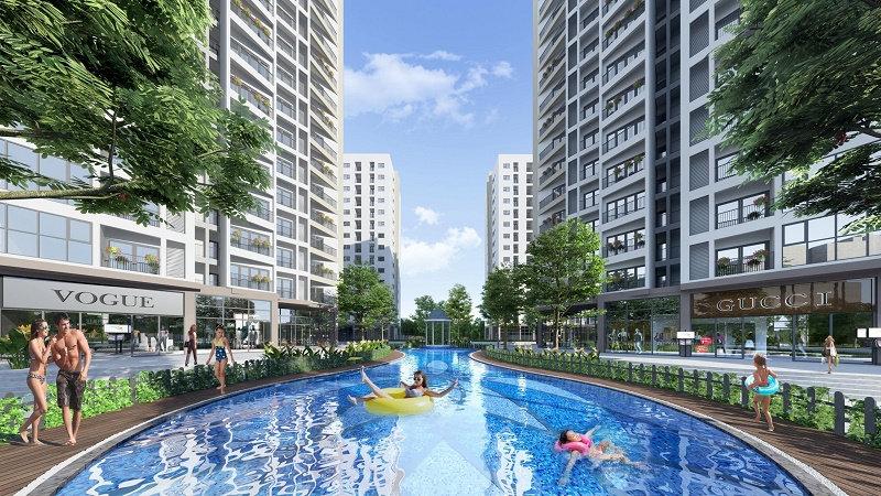 Bể bơi ngoài trời dự án Le Grand Jardin